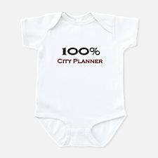 100 Percent City Planner Infant Bodysuit