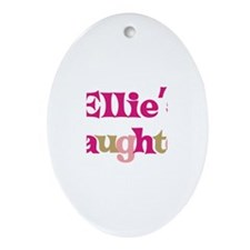 Ellie's Daughter Oval Ornament
