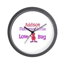 Addison - Mommy's Love Bug Wall Clock