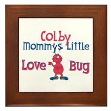 Colby - Mommy's Love Bug Framed Tile