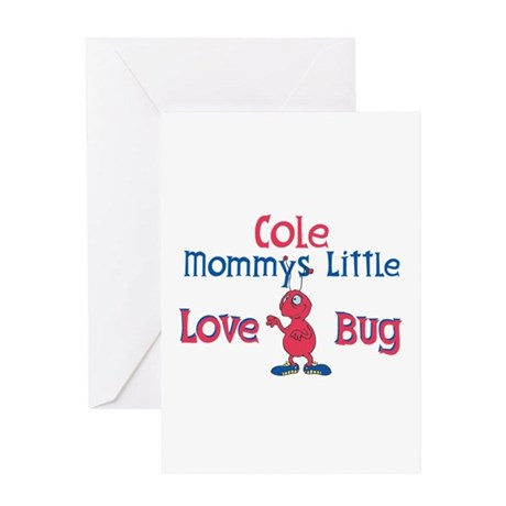 Cole - Mommy's Love Bug Greeting Card