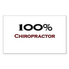 100 Percent Chiropractor Rectangle Decal