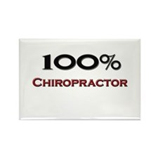 100 Percent Chiropractor Rectangle Magnet