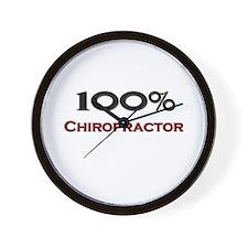 100 Percent Chiropractor Wall Clock