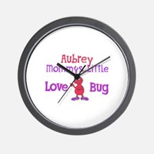Aubrey - Mommy's Love Bug Wall Clock