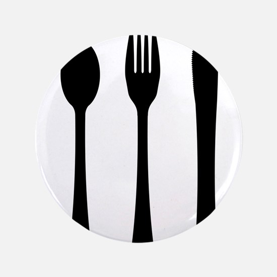 Knife Fork And Spoon Silhouette Button