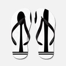 Knife Fork And Spoon Silhouette Flip Flops