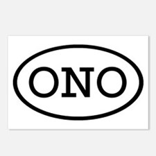 ONO Oval Postcards (Package of 8)