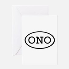 ONO Oval Greeting Card