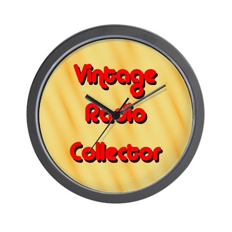 Vintage Radio Collector Wall Clock