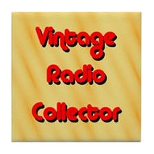 Vintage Radio Collector Tile Coaster
