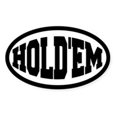 Hold'em Oval Decal