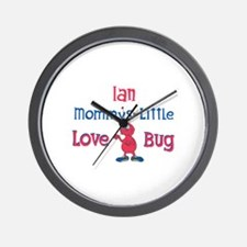Ian - Mommy's Love Bug Wall Clock