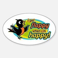 Flappy/Happy (OB2) Oval Bumper Stickers