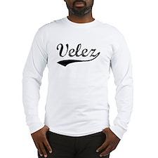 Vintage Velez (Black) Long Sleeve T-Shirt