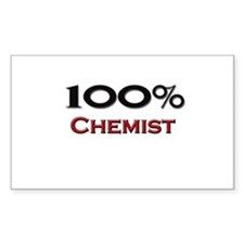 100 Percent Chemist Rectangle Decal