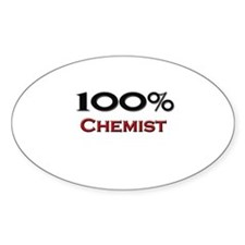 100 Percent Chemist Oval Decal