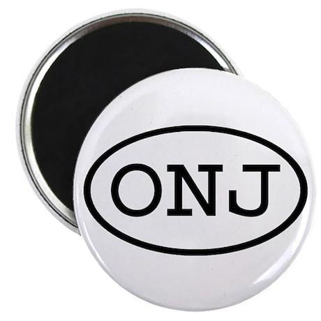 ONJ Oval Magnet