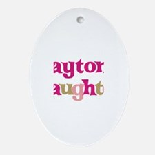 Payton's Daughter Oval Ornament