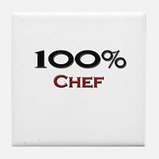 100 Percent Chef Tile Coaster