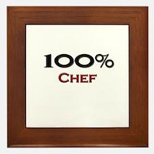 100 Percent Chef Framed Tile