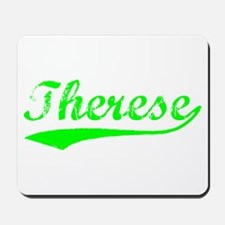 Vintage Therese (Green) Mousepad