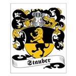 Stauber Family Crest Small Poster