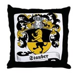 Stauber Family Crest Throw Pillow