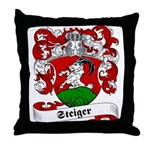 Steiger Family Crest Throw Pillow