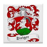 Steiger Family Crest Tile Coaster