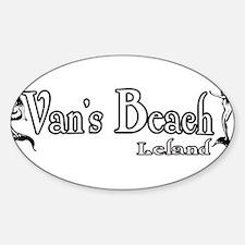 Van's Beach Mermaid 2008 Oval Decal