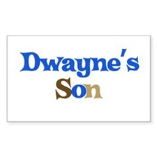 Dwayne's Son Rectangle Decal