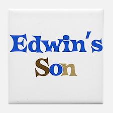 Edwin's Son Tile Coaster