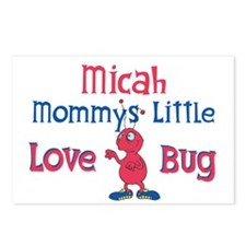 Micah - Mommy's Love Bug Postcards (Package of 8)
