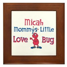 Micah - Mommy's Love Bug Framed Tile