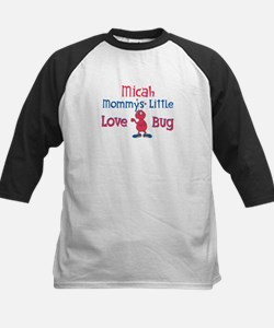 Micah - Mommy's Love Bug Kids Baseball Jersey