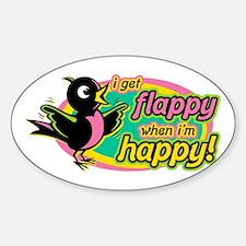 Flappy/Happy (GP2) Oval Bumper Stickers