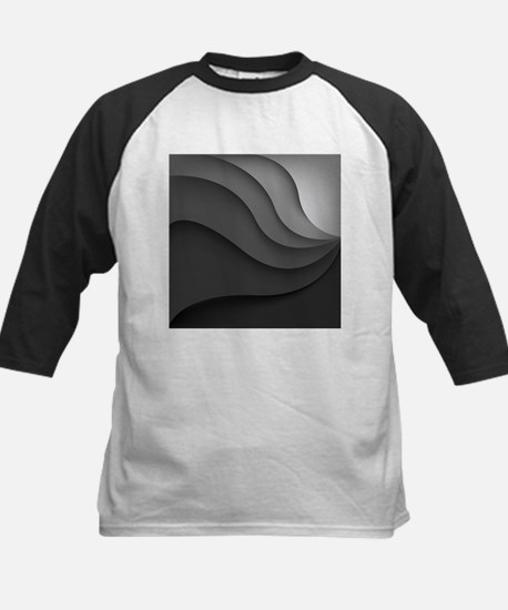 Black Abstract Kids Baseball Jersey