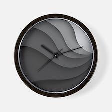 Black Abstract Wall Clock