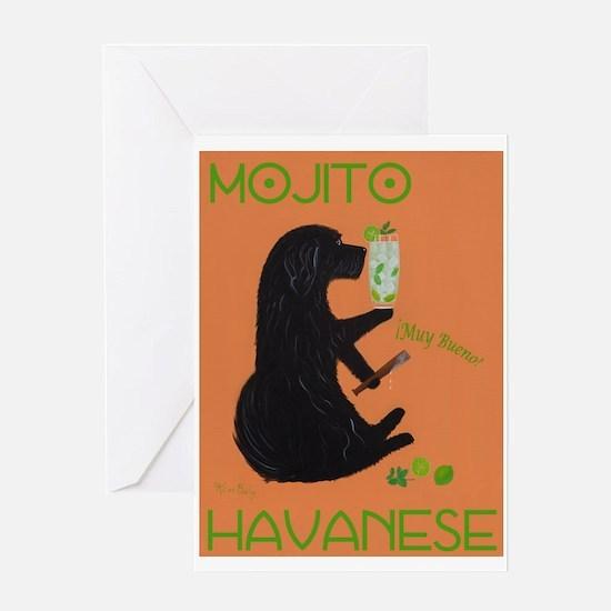 Mojito Havanese Greeting Card