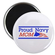 "Proud Navy Mom 2.25"" Magnet (100 pack)"