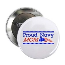 """Proud Navy Mom 2.25"""" Button (100 pack)"""
