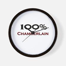 100 Percent Chamberlain Wall Clock