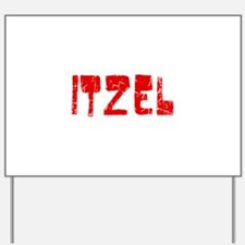 Itzel Faded (Red) Yard Sign