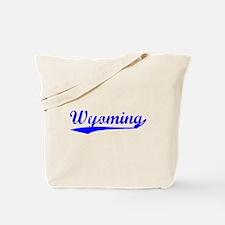 Vintage Wyoming (Blue) Tote Bag