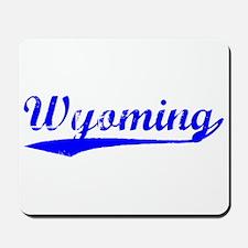 Vintage Wyoming (Blue) Mousepad