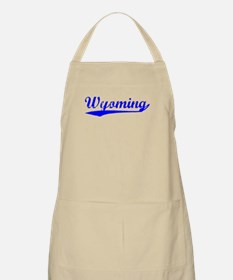 Vintage Wyoming (Blue) BBQ Apron