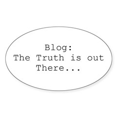 BLOG - The Truth Is Out There Oval Decal