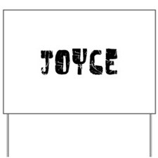 Joyce Faded (Black) Yard Sign