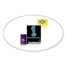 Contemporary Scotland.1-2 Oval Decal
